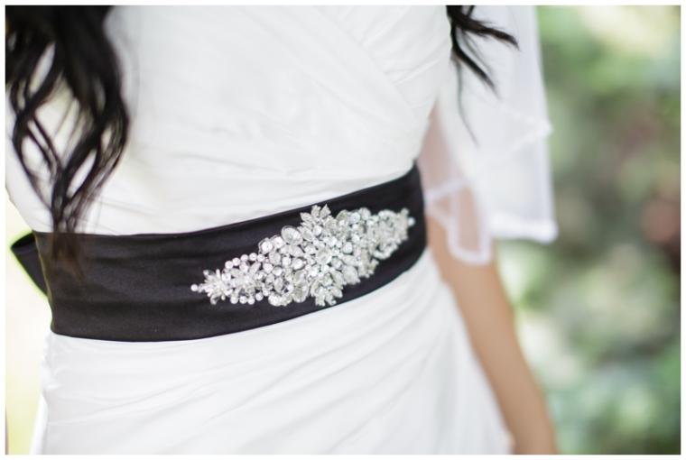 Bride's Sash Detail