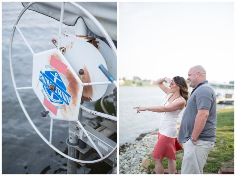 boat theme engagement photography