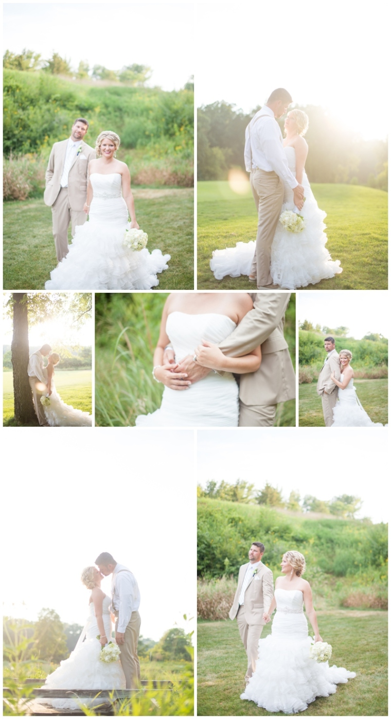 Gorgeous light for a wedding at the Tournament Club of Iowa. Images by 5th Photography.